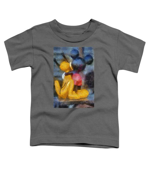 Mickey Mouse Photo Art Toddler T-Shirt