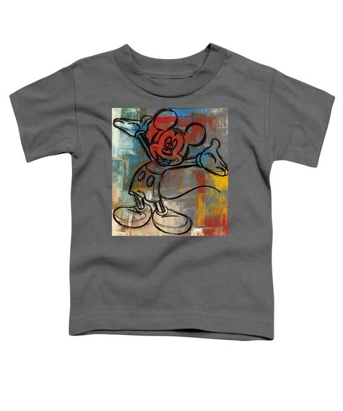 Mickey Mouse Sketchy Hello Toddler T-Shirt