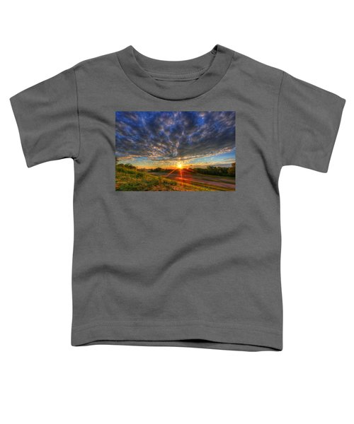 Midwest Sunset After A Storm Toddler T-Shirt