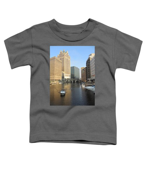 Milwaukee River Theater District 3 Toddler T-Shirt
