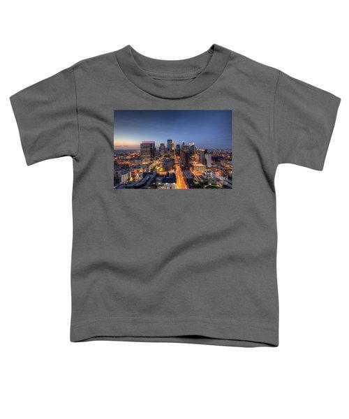 Minneapolis Skyline At Night Toddler T-Shirt