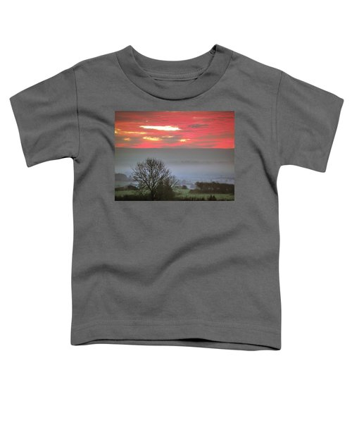 Toddler T-Shirt featuring the photograph Misty Morning Sunrise Over Western Ireland by James Truett