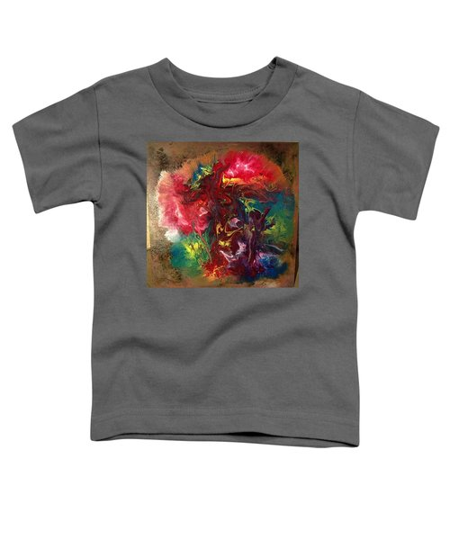 Mixed Media Abstract Post Modern Art By Alfredo Garcia Bizarre Toddler T-Shirt