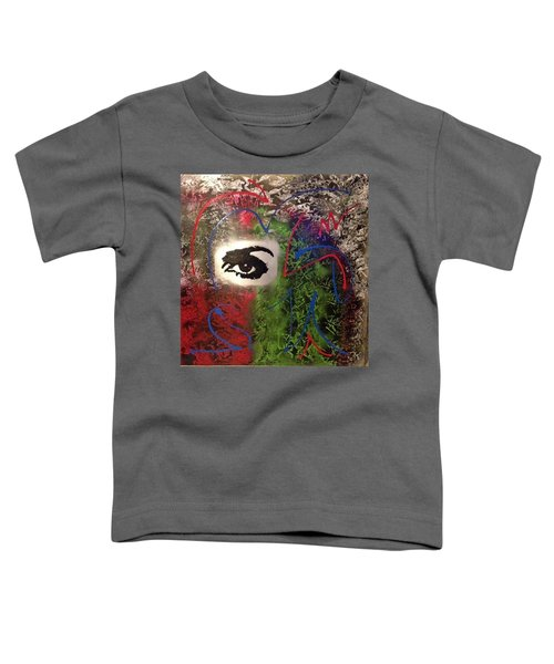 Mixed Media Abstract Post Modern Art By Alfredo Garcia Eye See You 2 Toddler T-Shirt