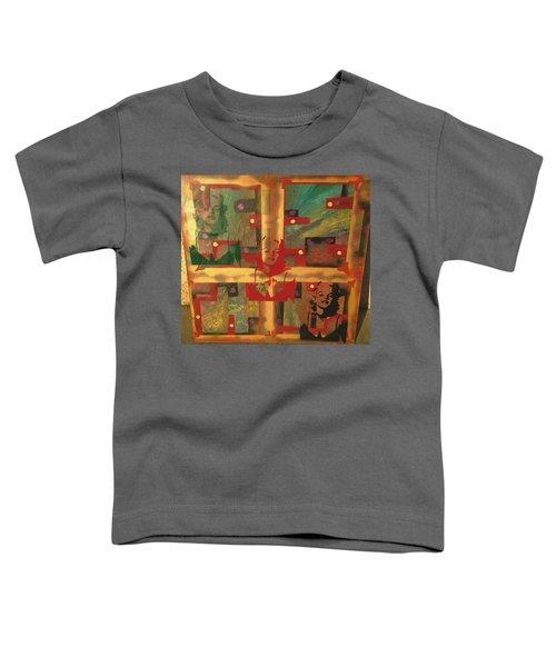 Mixed Media Abstract Post Modern Art By Alfredo Garcia The Blond Bombshell 3 Toddler T-Shirt