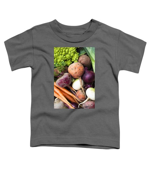 Mixed Veg Toddler T-Shirt by Anne Gilbert