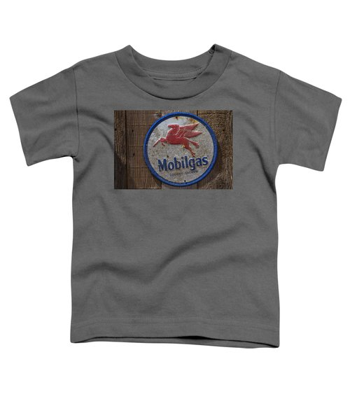 Mobil Gas Sign Toddler T-Shirt by Garry Gay