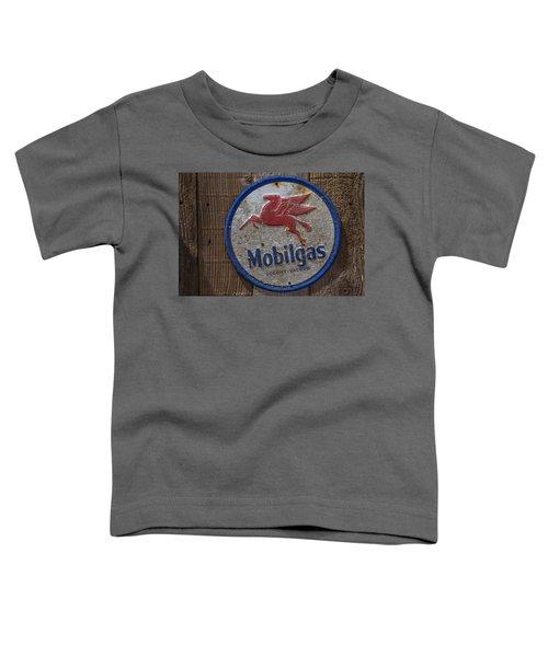 Mobil Gas Sign Toddler T-Shirt
