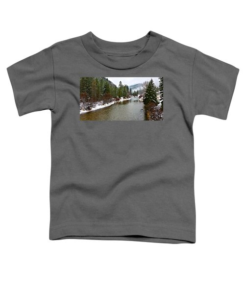 Toddler T-Shirt featuring the photograph Montana Winter by Susan Kinney