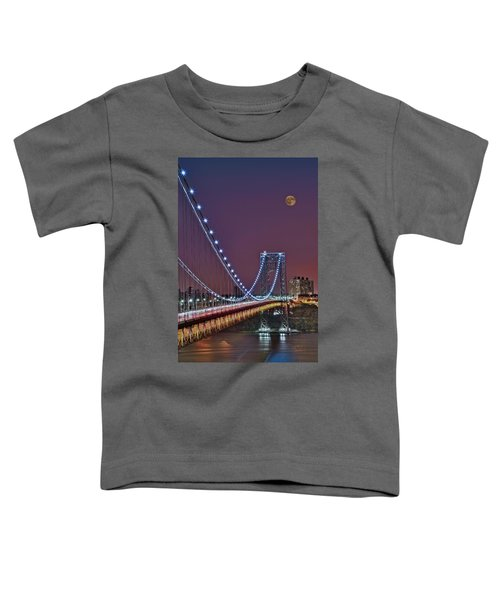 Moon Rise Over The George Washington Bridge Toddler T-Shirt