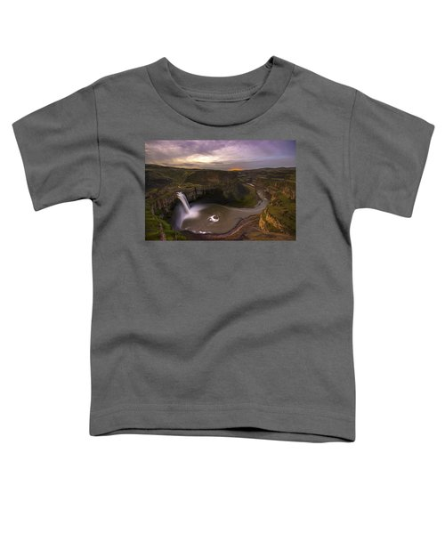 Moonlit Palouse Falls Toddler T-Shirt