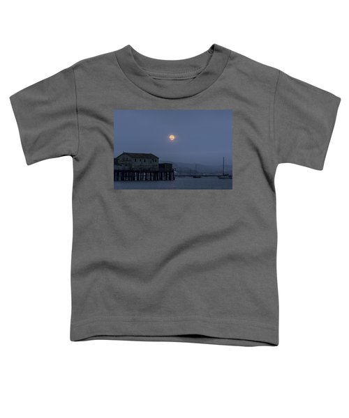 Moonrise Over The Harbor Toddler T-Shirt