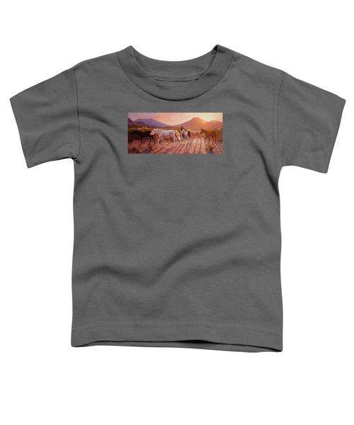 More Than Light Arizona Sunset And Wild Horses Toddler T-Shirt