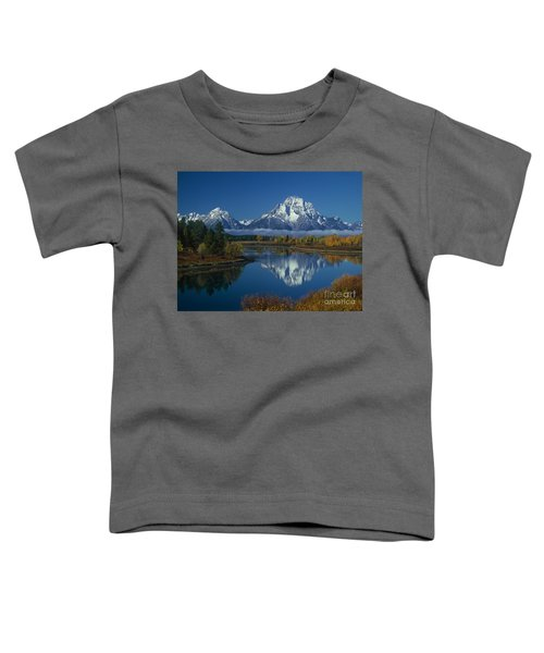 Morning Cloud Layer Oxbow Bend In Fall Grand Tetons National Park Wyoming Toddler T-Shirt