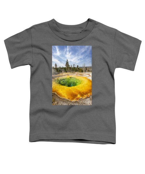 Morning Glory Pool In Yellowstone National Park Toddler T-Shirt
