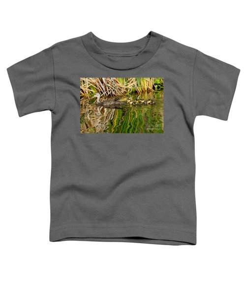 Mottled Duck And Young Toddler T-Shirt