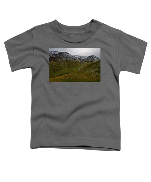 Mountainscape With Snow Toddler T-Shirt
