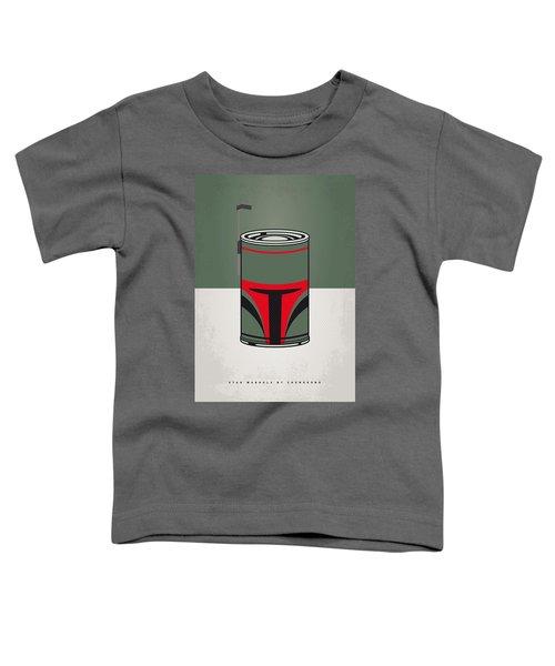 My Star Warhols Boba Fett Minimal Can Poster Toddler T-Shirt