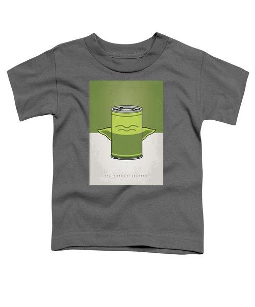 My Star Warhols Yoda Minimal Can Poster Toddler T-Shirt