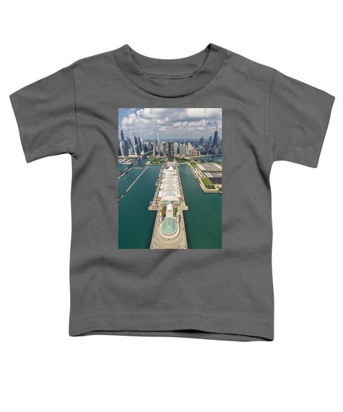 Navy Pier Chicago Aerial Toddler T-Shirt