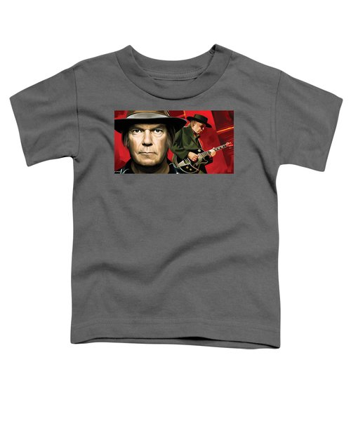 Neil Young Artwork Toddler T-Shirt by Sheraz A