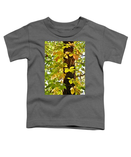Neon Leaves Toddler T-Shirt