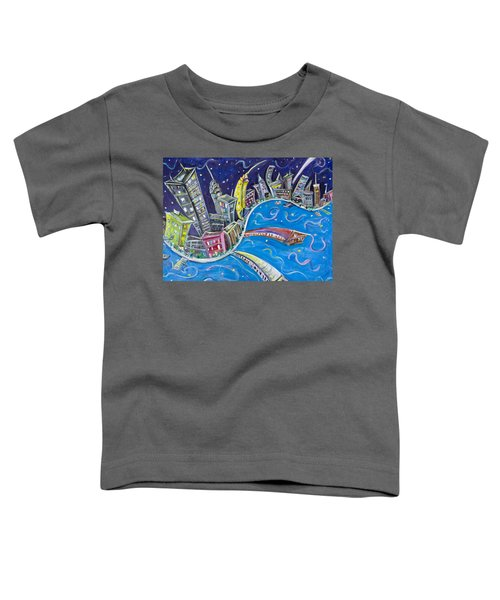 New York City Nights Toddler T-Shirt by Jason Gluskin