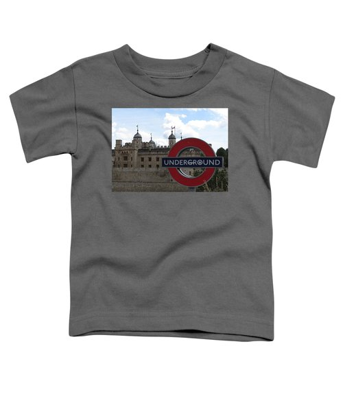 Next Stop Tower Of London Toddler T-Shirt by Jenny Armitage
