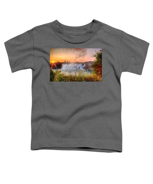 Niagara Falls Canada Sunrise Toddler T-Shirt
