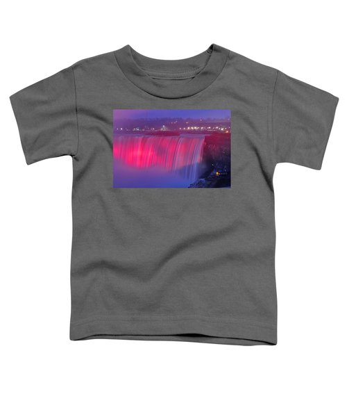 Niagara Falls Pretty In Pink Lights. Toddler T-Shirt