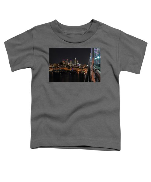 Nighttime Philly From The Ben Franklin Toddler T-Shirt