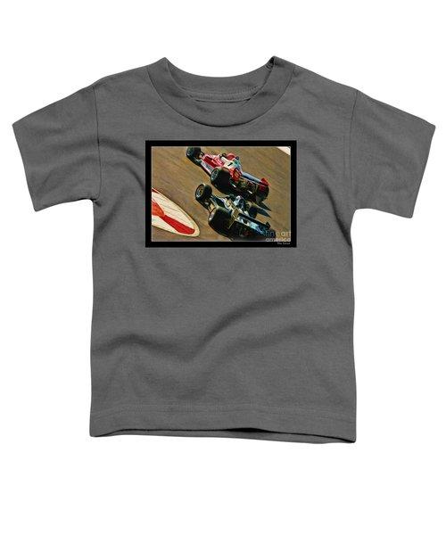 Niki Lauda Leads Mario Andretti Toddler T-Shirt