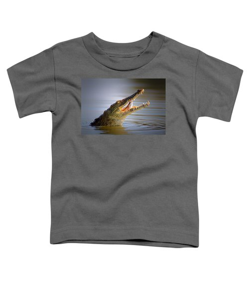 Nile Crocodile Swollowing Fish Toddler T-Shirt