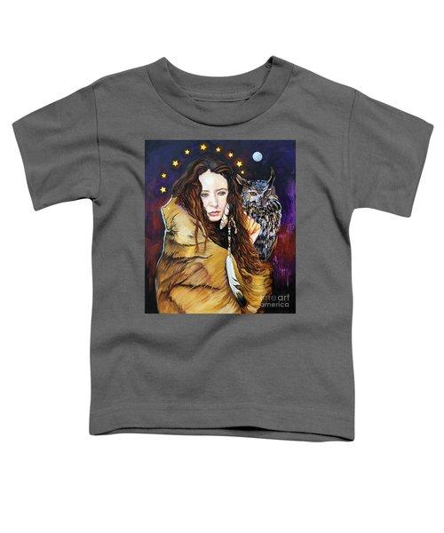 Nine Stars Woman / Owl Medicine Toddler T-Shirt