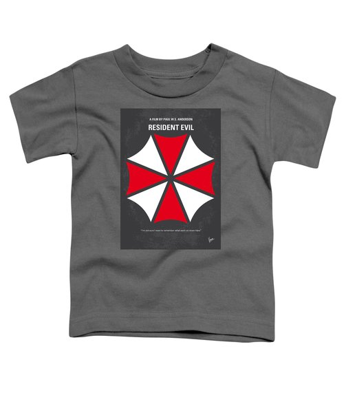 No119 My Resident Evil Minimal Movie Poster Toddler T-Shirt by Chungkong Art
