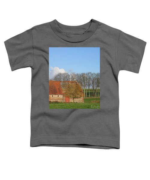 Normandy Storm Damaged Barn Toddler T-Shirt
