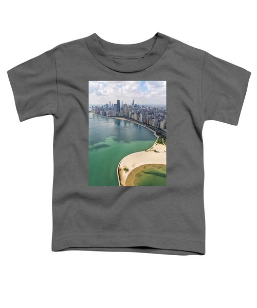 North Avenue Beach Chicago Aerial Toddler T-Shirt