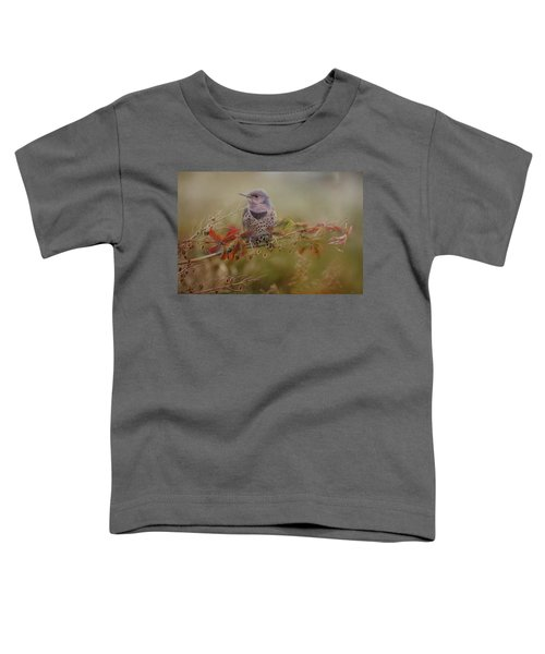 Northern Flicker In Fall Colors Toddler T-Shirt
