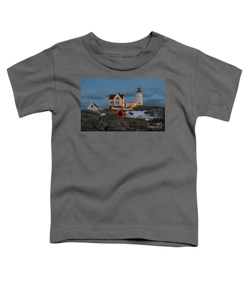 Nubble Lighthouse At Christmas Toddler T-Shirt