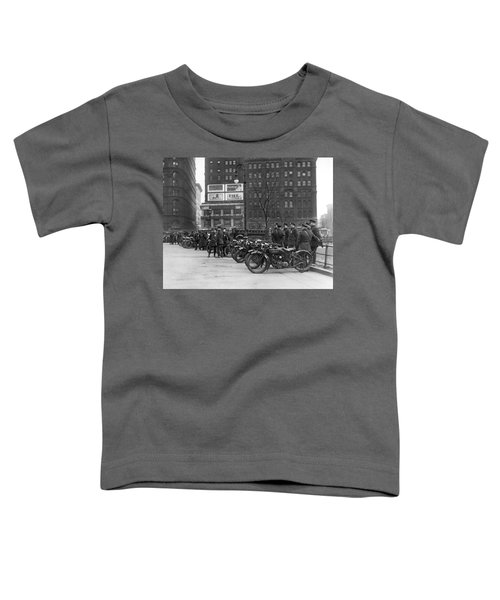 Ny Motorcycle Police Toddler T-Shirt