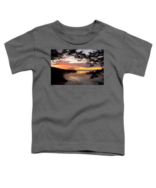 Ocean Sunset Deception Pass Toddler T-Shirt