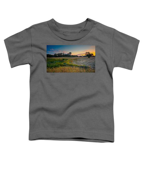 October Evening On The Farm Toddler T-Shirt
