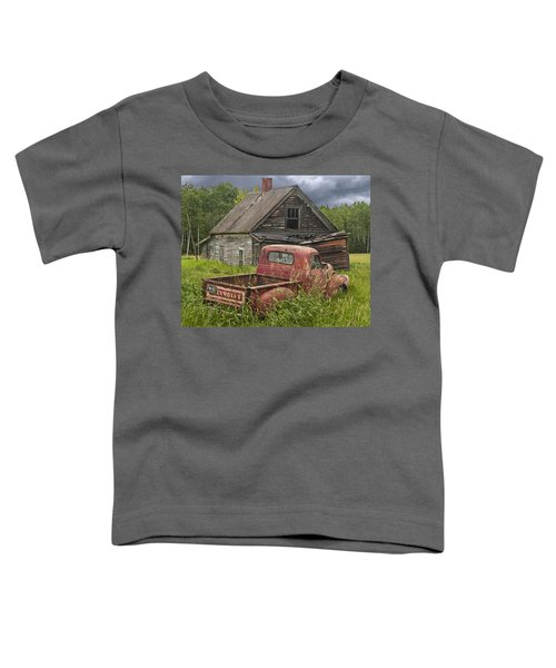 Old Abandoned Homestead And Truck Toddler T-Shirt