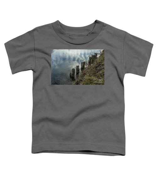 Old Dock Supports Along The Canal Bank - No 1 Toddler T-Shirt