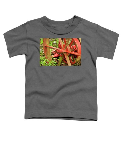 Old Farm Tractor Wheel Toddler T-Shirt