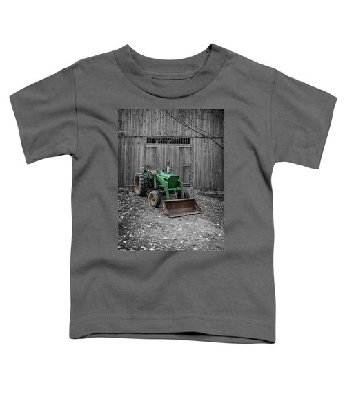 Old Tractor By The Barn Etna New Hampshire Toddler T-Shirt