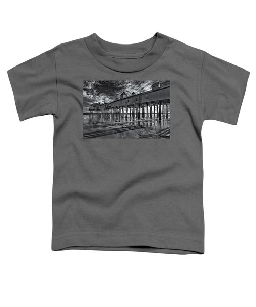 Old Orchard Beach Pier Bw Toddler T-Shirt