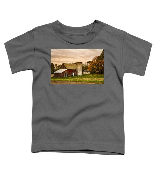 Old Red Barn And Silo Toddler T-Shirt