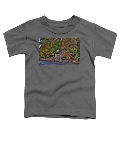 Toddler T-Shirt featuring the photograph Old Stone Tower At The Edge Of The Forest by Jonny D