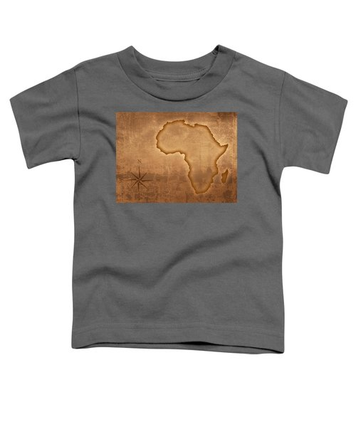 Old Style Africa Map Toddler T-Shirt